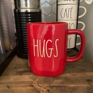 HUGS/KISSES double sided Rae Dunn mug